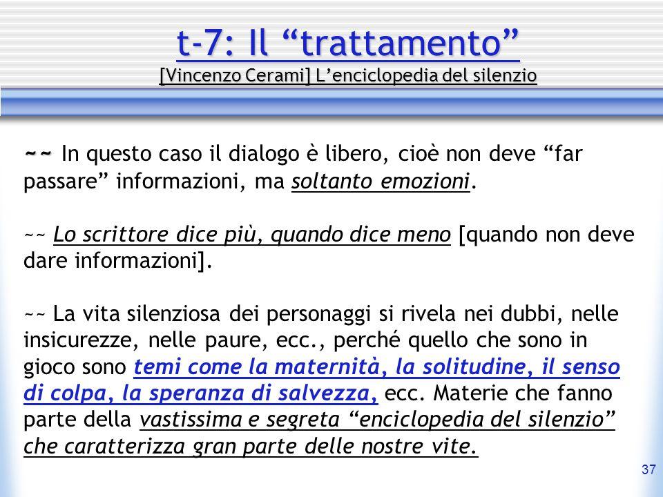 t-7: Il trattamento [Vincenzo Cerami] L'enciclopedia del silenzio